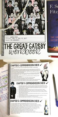 The Great Gatsby Unit | Grades 7-12 | Interactive workbook | Comprehensive unit