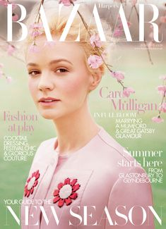 Harpers June issue offers up another cover promoting Careys role as Daisy Buchanan in Baz Luhrmanns The Great Gatsby .