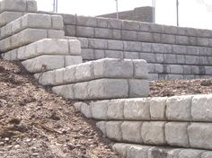 The CPM Redi-Rock blocks are delivered ready to build and are dry laid so can be installed in any weather Retaining Walls, Natural Stones, Weather, The Unit, 3d, Rock, Building, Artist, Skirt