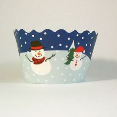 Snowmen Cupcake Wrappers - pack of 72