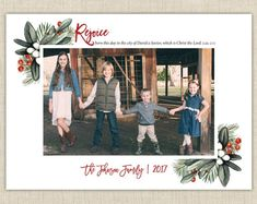 Christmas Photo Card from Brown Paper Studios Religious Christmas Cards, Christmas Photo Cards, Christmas Photos, New Year Greeting Cards, New Year Greetings, Halloween Photos, Halloween Cards, Christian Christmas, Very Merry Christmas