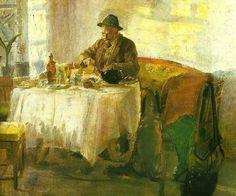 frokost for jagten, Anna Ancher