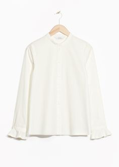 & Other Stories image 2 of Frilled Cuff Shirt  in Off white