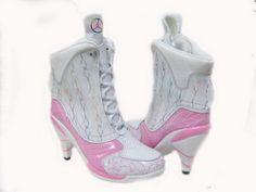 Nike jordan high heels 23 for women sale white pink Nike High Heels, High Heel Sneakers, Sneaker Heels, High Heel Boots, Womens High Heels, Heeled Boots, Shoes Heels, Pumps, Jordan Heels