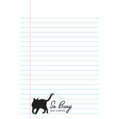 Let's just paws for a mewment and admire the cuteness.  Are you feline what we're feline?  That our playful cat Paw Pads notepads are the ideal place to scratch out your stray to-do lists?  Just watch out for those rambunctious cats climbing all over your mewmos!  Features four furball styles:      My cat is a jerk.     One time for naps.     So busy not caring.     Ask me about my cats.  A meow-nificent gift for the cat obsessed who will have fun wadding these up for their cat(s) to ...