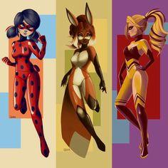 Style posters for Ladybug, Rena Rouge, and Queen Bee (Miraculous LadyBug) Ladybug E Catnoir, Ladybug Und Cat Noir, Ladybug Comics, Lady Bug, Les Miraculous, Film Manga, Marinette Et Adrien, Miraculous Ladybug Fan Art, Super Cat