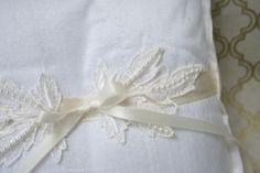 Custom Ring Pillow made from Mother's Veil-by The Garter Girl