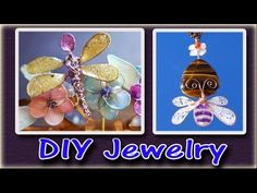 How To Make Easy Jewelry With Nail Polish, Glue and Wire - YouTube