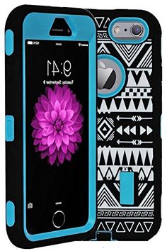 """myLife Hybrid Shock Absorbing {Built In Screen Protector} Case for iPhone 6 (6G) 6th Generation Phone by Apple, 4.7"""" Screen Version {True Blue + Midnight Black """"Hip Design"""" Neo Hybrid Three Piece with Layered Flex Gel SECURE-Fit Armor} myLife Brand Products http://www.amazon.com/dp/B00QJ9U49I/ref=cm_sw_r_pi_dp_keIHub0YTFW27"""