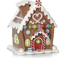 Gingerbread House Christmas Decoration Xmas Centre Piece Ginger Bread