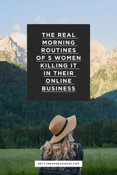 Check out these behind-the-scenes morning routines of 5 women entrepreneurs killing it in their online businesses to poach for your own morning routine!