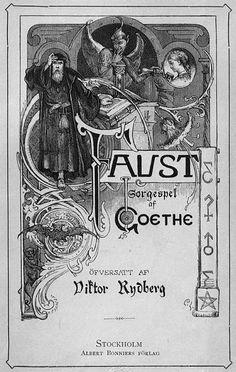 Frontespis till Viktor Rydbergs Faust-översättning (1878 års upplaga).