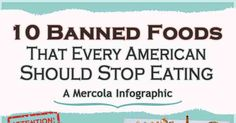 10 Banned Foods Americans Should Stop Eating – Infographic.  Seriously disturbing!