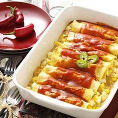 Brunch Enchiladas Recipe from Taste of Home -- shared by American Egg Board, Linda Braun, Park Ridge, Illinois