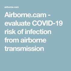 Airborne.cam - evaluate COVID-19 risk of infection from airborne transmission