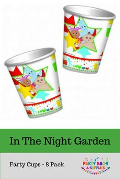 Our In The Night Garden birthday party cups are perfect to complete your kids birthday party! They can be used for drinks, sweets, to hold confetti or utensils, the uses are endless! Whatever you want to use our In The Night Garden party cups for, they will be perfect addition to your In The Night Garden birthday party! To see our full range of In The Night Garden birthday party supplies, click here…