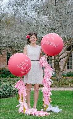 Amy Martin Photography captured Will You Be My Bridesmaid? balloons #bridesmaids #pink #weddingchicks http://www.weddingchicks.com/2014/04/02/will-you-be-my-bridesmaid-party-3/