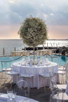 The reception took place 20km from the church at the lavish five-star resort of Hotel Falisia in Portopiccolo