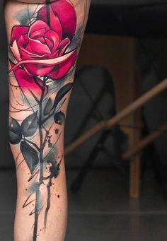 70 Women's Cool Leg Tattoos In 2019 - Page 14 of 70 - PinningFashionPinningFashion Tattoo Sleeve Designs, Flower Tattoo Designs, Sleeve Tattoos, Rose Tattoos, Flower Tattoos, Body Art Tattoos, Unique Tattoos, Beautiful Tattoos, Enough Tattoo