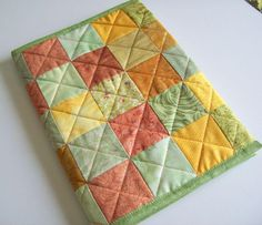 this is a journal cover - but could well be used as a quilt block - love the colors