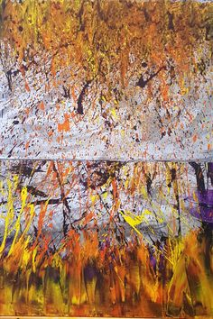 """""""Sinister Flames"""" - Marlien Visagie Acrylic on Canvas 50,5cm x 101cm per canvas / 20"""" x 40"""" per canvas Abstract Expressionism Art, Abstract Art, Photo And Video, Tattoos, Canvas, Painting, Instagram, Tela, Tatuajes"""