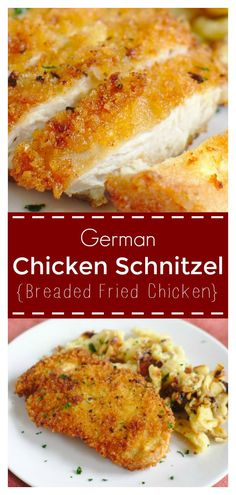 German Chicken Schnitzel Chicken Schnitzel – A classic german dish made with breaded chicken deep fried until golden brown. Perfect served with spaetzle! Best Chicken Recipes, Turkey Recipes, New Recipes, Cooking Recipes, Favorite Recipes, Healthy Recipes, Best Breaded Chicken Recipe, Chicken Snitzel Recipe, German Food Recipes
