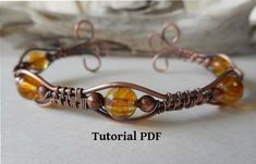 Wire Wrapped Bracelet, Wire Wrapped Rings, Wrap Bracelet Tutorial, Chain Nose Pliers, Steel Jewelry, Copper Wire Jewelry, Wire Jewellery, Copper Bracelet, Beaded Jewelry