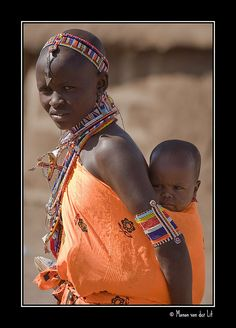 Maasai mother and child..