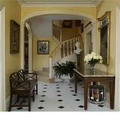 The hallway at The Old Rectory, the winner of 'England's Finest Parsonage' competition run by Country Life and sponsored by Savills. The house was built in 1749 and between 1945 to 1951 was the home of Sir John Betjeman.