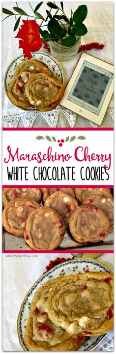 Maraschino Cherry White Chocolate Cookies... so chewy, delicious and pretty for the holidays!