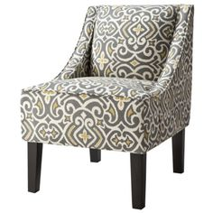 Hudson Upholstered Accent Chair - Gray/Citron. $149