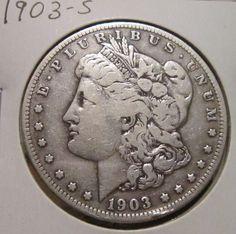 1903-S MORGAN SILVER DOLLAR RARE KEY DATE US SILVER COIN