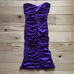 Strapless Ruched Formal Dress