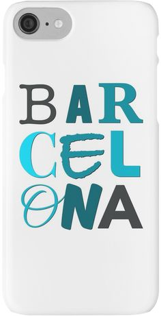 """Barcelona Letters"" iPhone Cases & Skins by bubbliciousart 