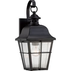 "View the Quoizel MHE8406 Millhouse 1 Light 16"" Tall Outdoor Wall Sconce with Clear Seedy Glass at Build.com."