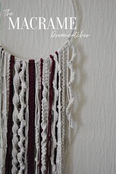 Add this boho Macramé dreamcatcher to your wall for a pop of colour, personality and intricate handwoven textiles.   Inspired by our love of deep reds and the sea - this original design has an underwater-esque coral vibe that we absolutely love.   The luscious Merlot Wine Red colour against Ecru (undyed) is stunning, bringing each intricate knot to life.   Check out our listing, and the rest of our shop @Macramallamastudios on Etsy! Wine Red Color, Red Colour, Quirky Decor, Boho Decor, Merlot Red Wine, Modern Macrame, Natural Interior, Inspirational Wall Art, Nature Decor
