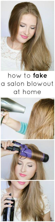 Yes, it's possible to get voluminous, smooth, and shiny hair at home without spending an hour stumbling around with your blowdryer and round brush. This tutorial will show you how to fake a salon blowout at home - even if you're not skilled at styling your hair! Click through to see the step-by-step tutorial and a list of the products I recommend using including my FAV hairspray from @Tresemme (only a few bucks at @Walmart)! #StyleWithTres #Sponsored