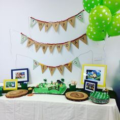 Cake plates and napkins from Target and balloons from Party City. See other pics for sources of other items!