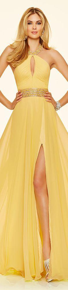 Mori Lee Paparazzi yellow prom dress (98112). #yellow #yellowdresses #yellow dresses