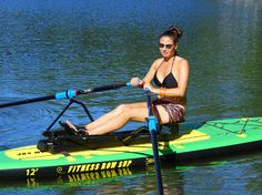 Rowing an SUP for Fi