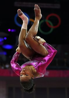 Gabrielle Douglas of the U.S. competes in the floor exercise during the women's individual all-around gymnastics final in London.