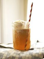 Spiked cider floats.  Would use spicebox, not icky maple stuff