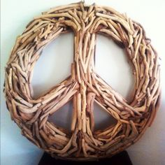 DriftWood Peace Sign Wall Art by DriftWoodDominican on Etsy