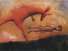 """Garry Shead D.H. Lawrence """"Flaming Kangaroo"""" from Etching House"""