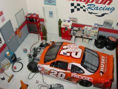 nascar race track diorama