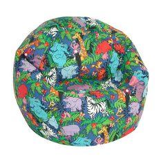 Elite Products Child Prints Collection Jr. Bean Bag- Jungle Animals