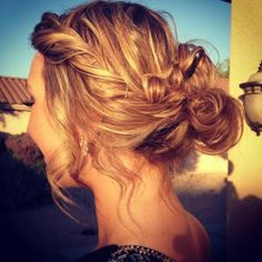 Pinned Messy Updo