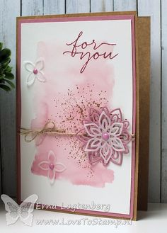 """I could use a watercolor wash (put ink on a stamping block, mist and """"stamp"""" on paper) for the background. cut/punch images out of coordinating paper &/or vellum Make Your Own Card, Card Making Tips, Watercolor Cards, Watercolour, Sympathy Cards, Card Sketches, Stamping Up, Flower Cards, Creative Cards"""