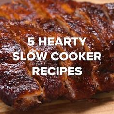 5 Hearty Slow Cooker Recipes // You are in the right place about atkins diet recipes dinner Here we offer you the most beautiful pictures about the atkins diet recipes dessert you are looking for. When you examine the 5 Hearty Slow Cooker Recipes // … Crock Pot Slow Cooker, Crock Pot Cooking, Slow Cooker Recipes, Meat Recipes, Dinner Recipes, Cooking Recipes, Grilling Recipes, Crock Pots, Crock Pot Ribs