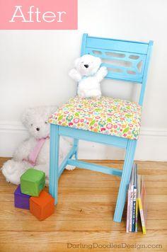 Yard Sale Chair Kiddie Chair Makeover